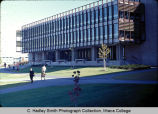 Library (later Gannett Center) with Upper Quad in background, Ithaca College, Ithaca, NY, exterior...