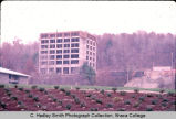 East Tower & Towers Dining Hall under construction, Ithaca College, Ithaca, NY, long view from...