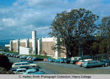 Hill Physical Education Center south side, Ithaca College, Ithaca, NY, exterior view from the...
