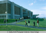 Hill Physical Education Center north side, Ithaca College, Ithaca, NY, exterior view from the...