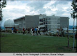 Williams Hall, Ithaca College, Ithaca, NY,  exterior view of South, East sides, & greenhouse...