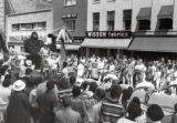Spring Weekend parade float, Ithaca College, Ithaca, NY, 2nd block of E. State Street, from South...