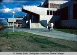 Hill Physical Education Center North side with Ford Hall in background, Ithaca College, Ithaca,...