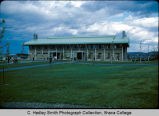 College Union (or Egbert Hall), Ithaca College, Ithaca, NY, exterior view,from Southwest taken ...
