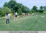 Golf instruction, Ithaca College, Ithaca, NY, group view taken June 1970.