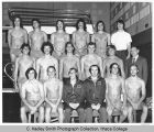 Men's swim team, Ithaca College, Ithaca, NY, group picture at swimming pool, taken November 16,...