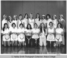 Women's tennis team, Ithaca College, Ithaca, NY, interior group picture taken October 27, 1976.