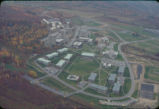 Campus aerial view (South Hill campus), Ithaca College, Ithaca, NY,  from the Northeast, taken...