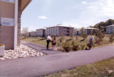 Residence halls in Upper Quad, Ithaca College, Ithaca, NY, long view from Southeast Corner of...