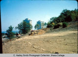 Construction site of Terraces residence halls, Ithaca College, Ithaca, NY,  from the West, taken...