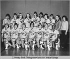 Women's basketball team, Ithaca College, Ithaca, NY, group picture taken December 3, 1976.