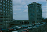 Towers residence halls & Towers dining hall, Ithaca College, Ithaca, NY, exterior view from...