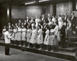 Choir, Ithaca College, Ithaca, NY, group photograph taken May 1, 1963