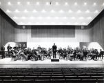 Repertory Band, group picture on Ford Hall stage, Ithaca College, Ithaca, NY,  taken November 1,...
