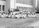 Conference participants, group picture outside Hill Center, Ithaca College, Ithaca, NY,  taken...