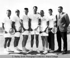 Men's tennis team, Ithaca College, Ithaca, NY, exterior group picture taken June 1, 1964.