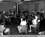 Workshop for string instruments, Ithaca College, Ithaca, NY, interior group picture taken June 27,...