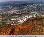 Campus aerial view (South Hill campus), Ithaca College, Ithaca, NY,  from the Southwest, taken...