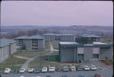 Lower Quad & Hammond Health Center, Ithaca College, Ithaca, NY,  exterior view from the West,...