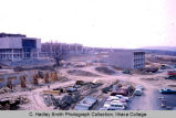 Muller & Textor construction site, Ithaca College, Ithaca, NY, exterior view from the...