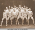 Men's basketball team, Ithaca Conservatory and Affiliated Schools, Ithaca, NY, 1929.