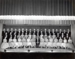 Choir, Ithaca College, Ithaca, NY,  group photograph, taken November 23, 1957.