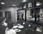 Television studio, broadcast of Frank Kolmin's income tax show Your Tax Problems, Ithaca College,...