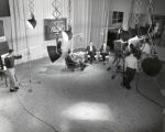 Television studio, broadcast of television program, Ithaca College, Ithaca, NY, view of...