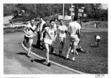 Track event, Ithaca College, Ithaca, NY, 1963.