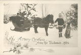 1926 Christmas Card from the Trudeau Family