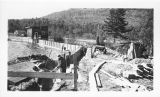 Constructing East Wing Wall at Union Falls Dam