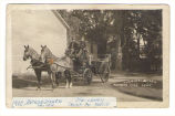 Potsdam Fire Dept., Chemical Wagon, c.1900. Arthur Jenner, Driver. Jim Lahey, Chief of Police.