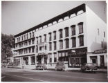 Albion Hotel, Elm St. with cars, c. 1950