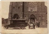Funeral leaving St. Mary's Catholic Church, c.1924