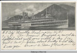 [Image of the steamboat, Robert Fulton, in motion] [untitled] [front caption] (1front) [h0101ac]