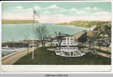Claremont Inn and Hudson River, New York [front caption] (1front) [h0016ac1]