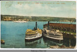 HUDSON RIVER DAY LINE PIER AT 129TH ST., NEW YORK [front caption] (1front) [h0071ac1]