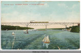 BRIDGE OVER HUDSON RIVER. AT POUGHKEEPSIE. [front caption] (1front) [h0096ac1]