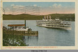 Steamer Washington Irving Passing West Point. Hudson River, N.Y. [front caption] (1front)...