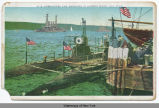 U.S. SUBMARINES AND WARSHIPS IN HUDSON RIVER, NEW YORK [front caption] (1front) [h0075ac1]