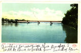 9962. UPPER HUDSON RIVER AND WATERFORD BRIDGE TROY, N.Y.[front caption] (1 front)[h0049ac1]