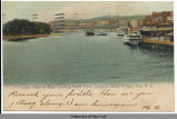 View of River Looking North From Congress Street Bridge, Troy, N. Y. [front caption] (1front)...