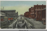 VIEW OF LOCK ON OSWEGO CANAL, PHOENIX, N. Y., [hand-printed front caption] (1front) [w0013ac1]
