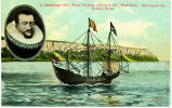 "In September 1609, Henry Hudson, sailing in the ""Half Moon,"" discovered the Hudson..."