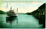 "View South from West Point Dock, showing ""Mary Powell"" Steamboat, West Point, N.Y.[front..."