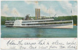 "HUDSON RIVER DAY LINE STEAMER ""NEW YORK"". [front caption] (1front) [h0141ac1]"