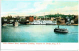 1536 - Hudson River, Steamboat Landing, Congress St. Bridge, Troy, N.Y. [front caption] (1front)...