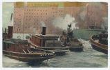 Tugs in Buffalo Harbor, N.Y.  [front caption] (1front) [e0510ac1]