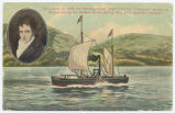 "On August 17, 1808, the first steamboat, Rob't Fulton's ""Clermont"" [portion of front..."