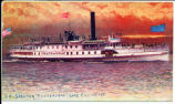 "94-STEAMER ""CHATEAUGAY"". LAKE CHAMPLAIN.  [Hand lettered front caption] (1front)..."